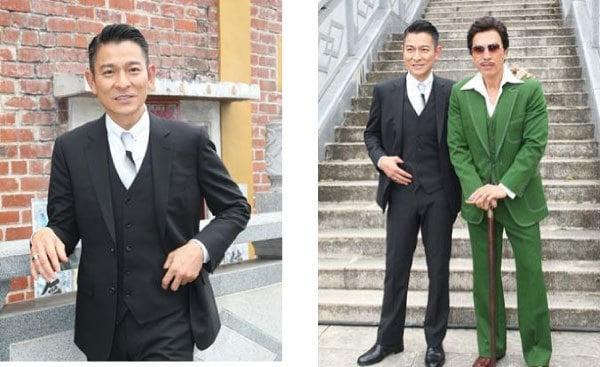 劉德華和甄子丹參加《追龍》開鏡儀式。(網絡圖片)