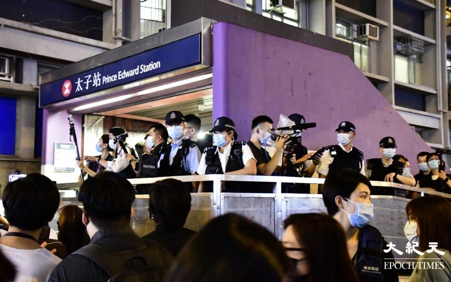 8.31兩周年 | 過百警太子站戒備 獻花市民遭票控亂拋垃圾
