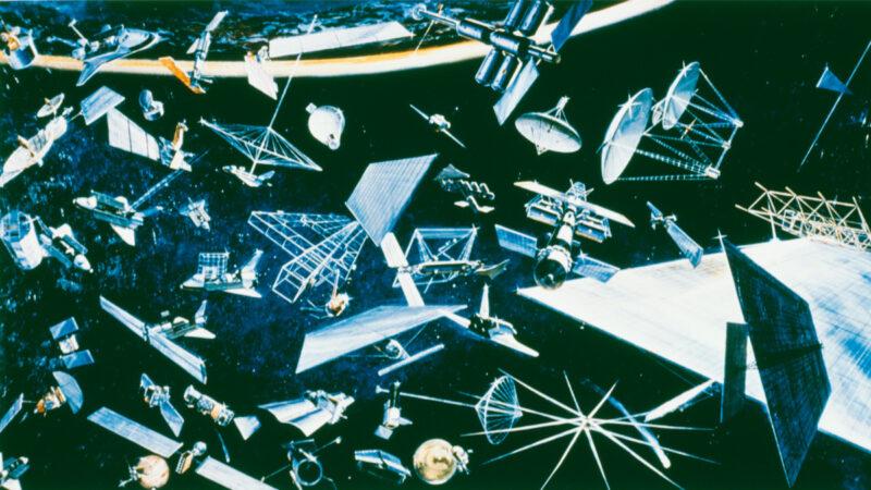 圖為各種環繞地球的設備,包括通信衛星、軌道平台、各種類型的空間站、太陽能衛星和天文觀測站等。(Space Frontiers / Getty Images)