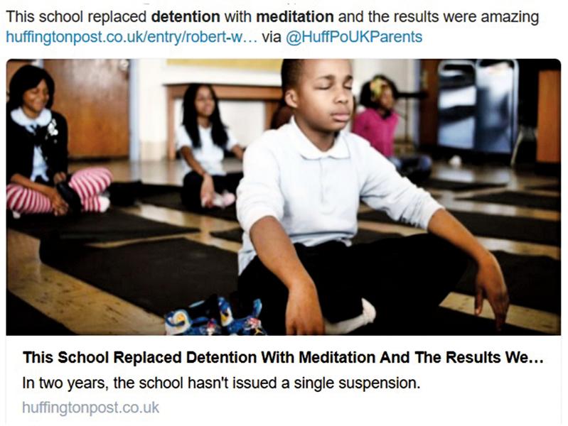 以打坐管教學生成效驚人