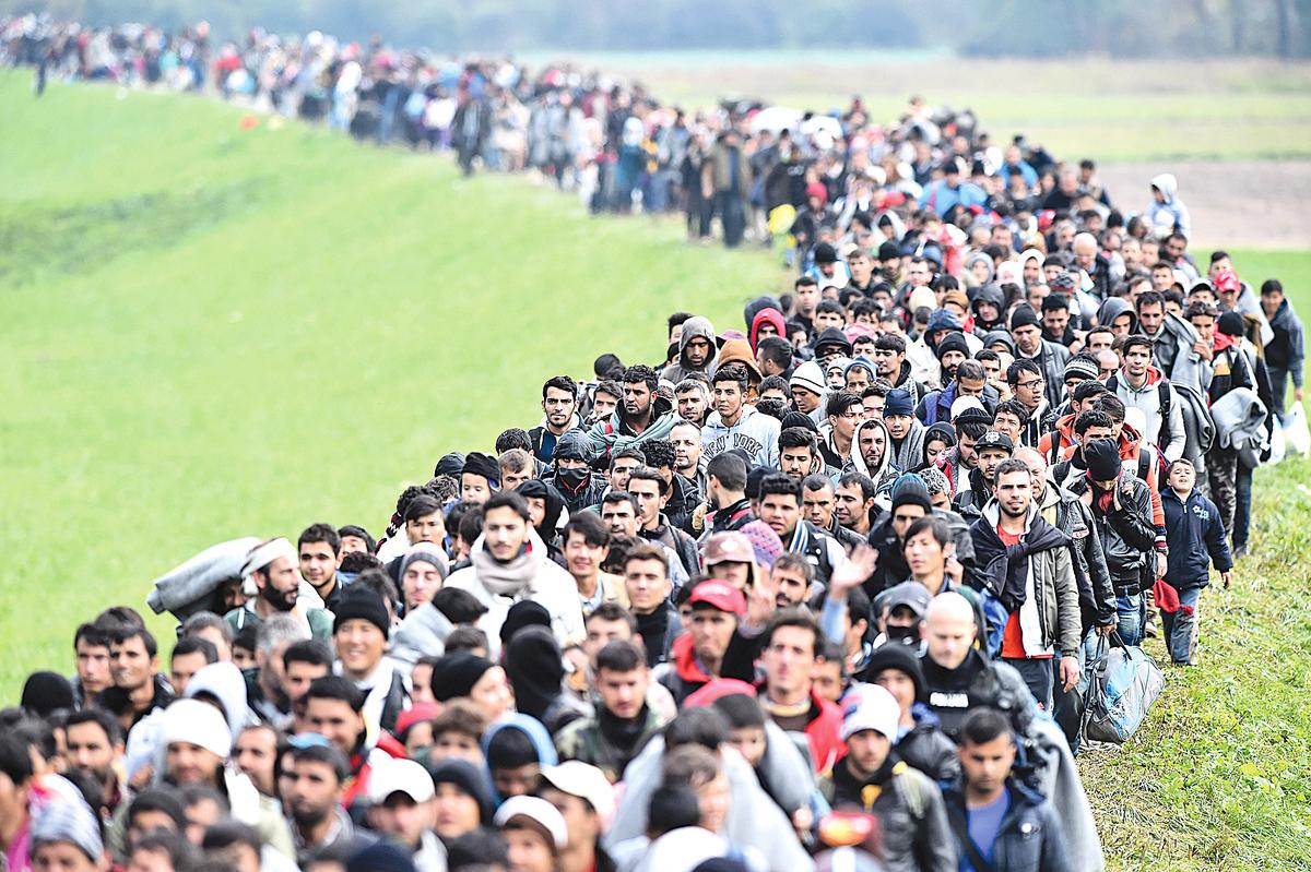 大量難民湧入歐洲。(Getty Images)