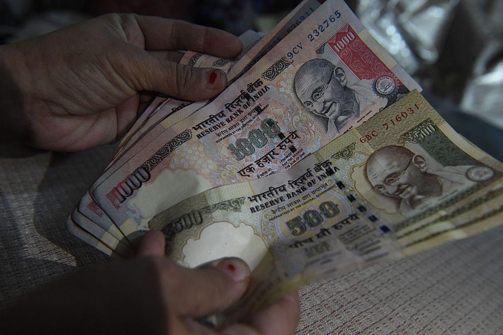 印度昨(9月3日)公布外匯儲備按周增加2.70%至6,336億美元。(PRAKASH SINGH/AFP via Getty Images)