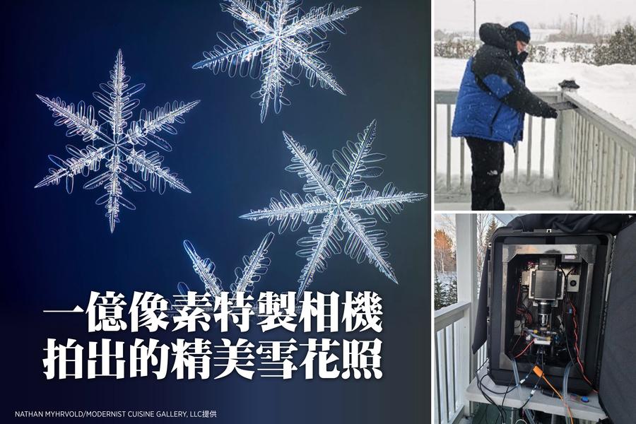 一億像素特製相機拍出的精美雪花照(多圖)
