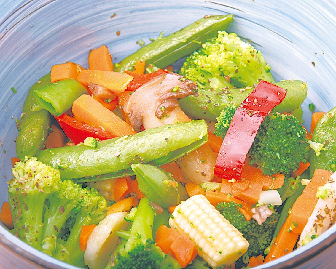 準備多種抗發炎的蔬菜,炒在一起就很好吃。
