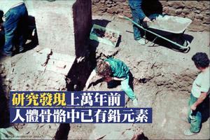研究發現上萬年前人體骨骼中已有鉛元素
