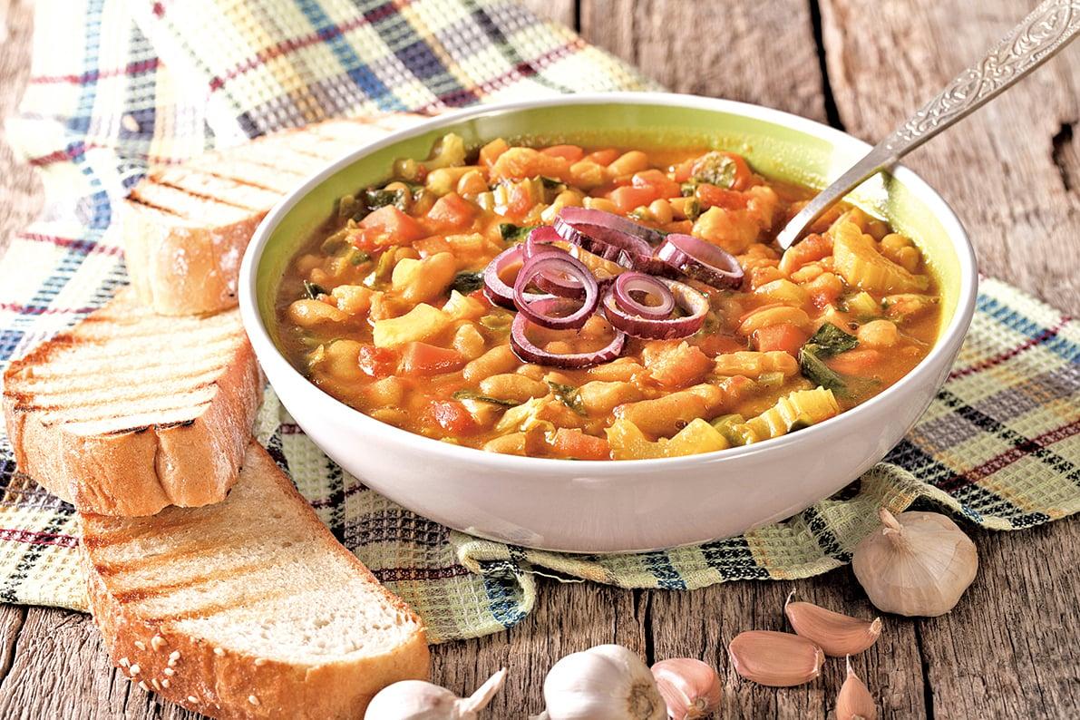 美味的豆子湯,能讓你攝取植物性蛋白。
