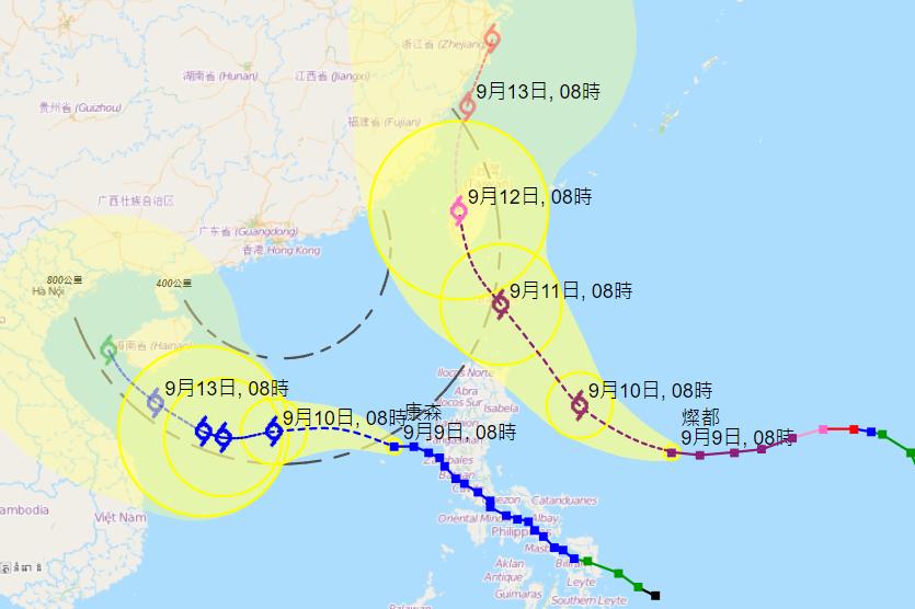 雙氣旋出現  天文台預計發出戒備信號機會較低