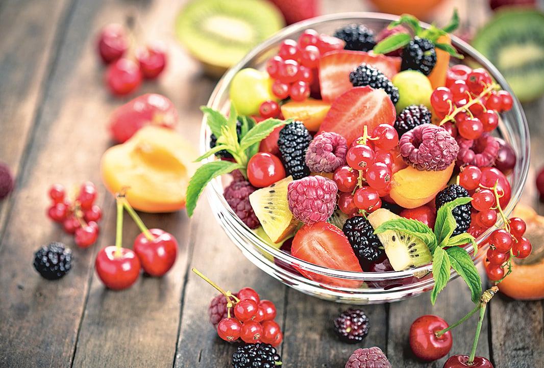 以美味的水果取代甜點。