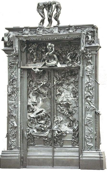 門飾群雕《地獄之門》(The Gates of Hell)。