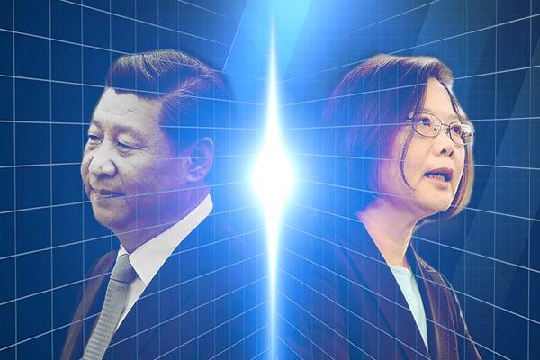 近日,促成「習馬會」的重要推手、亞太和平研究基金會首席顧問趙春山透露,2016年他亦曾牽線「蔡習會」,因北京變卦而破局。圖右為蔡英文、左為習近平。(NTD製作)
