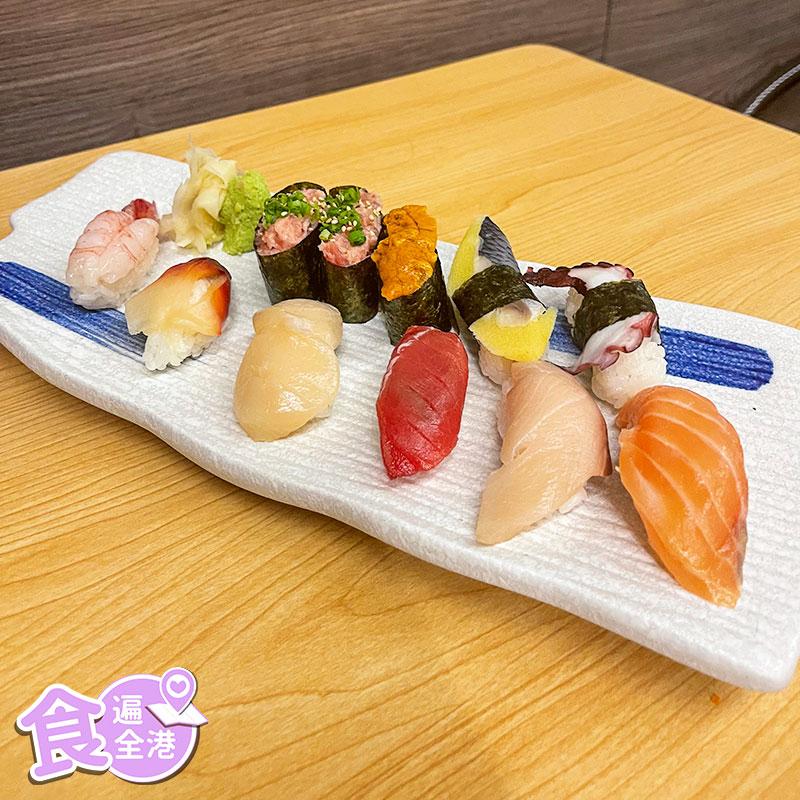 廚師發辦壽司拼盤。(Yuki提供)