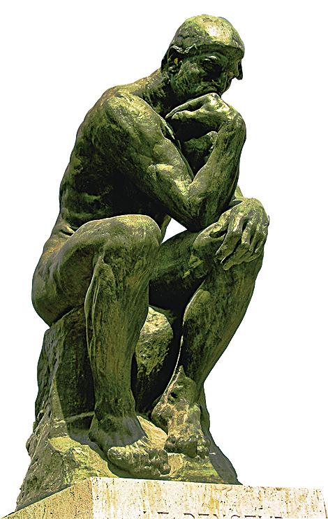 《沉思者》的原始塑像,位於巴黎的羅丹美術館。