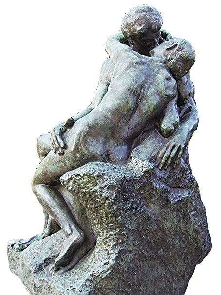 獨立展出的《吻》與最初羅丹雕刻於《地獄之門》上的寓意已大相逕庭。其寓意正是告誡人們追求背德的情慾是導致人類下地獄的罪魁禍首。
