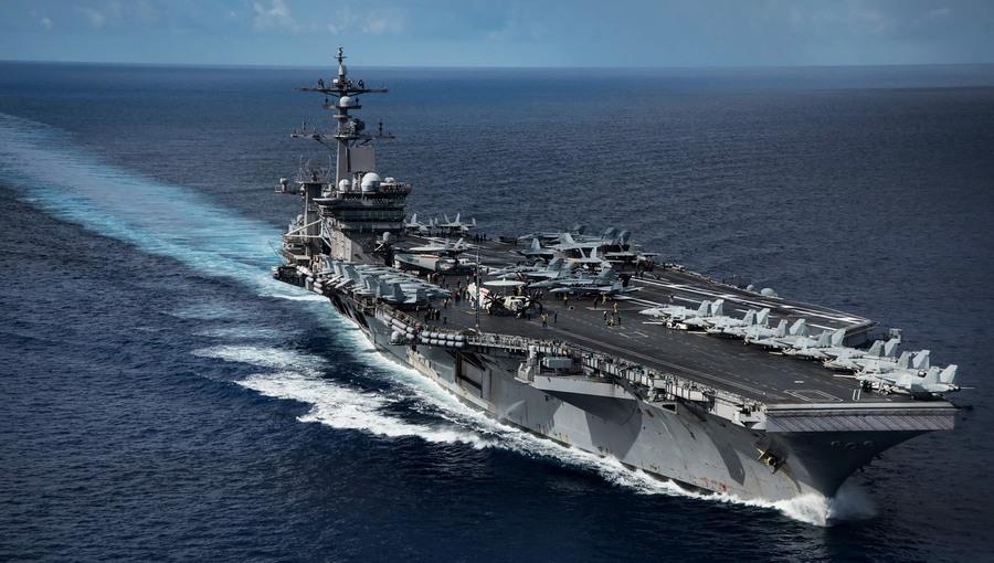 美航母進入南海活動 美艦駛入美濟礁12海浬