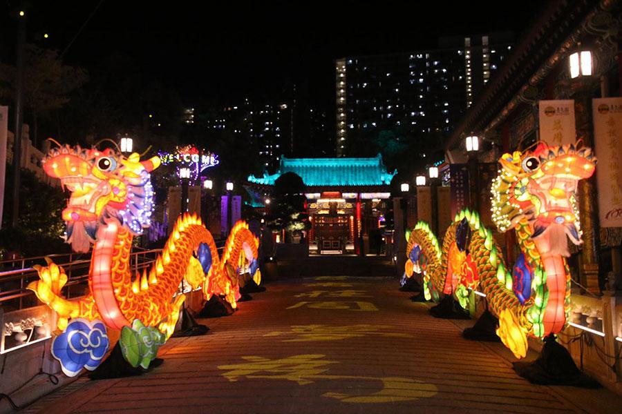 嗇色園黃大仙祠於9月18至24日期間將舉辦花燈廟會,內有大型花燈及燈謎。(News Insight Hong Kong提供)