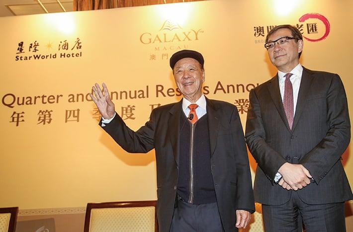 左起銀娛主席呂志和、副主席呂耀東。(大紀元資料圖片)