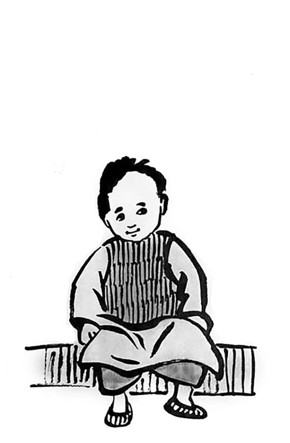 豐子愷漫畫《被寫生的時候》。(網絡圖片)