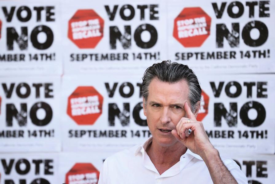 加州州長罷免選舉 投票初步統計 紐森或留任