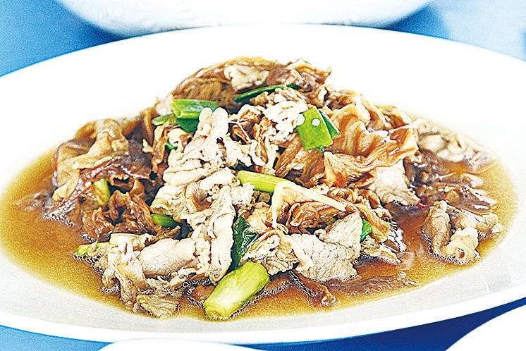 椰菜乾醬炒豬肉片