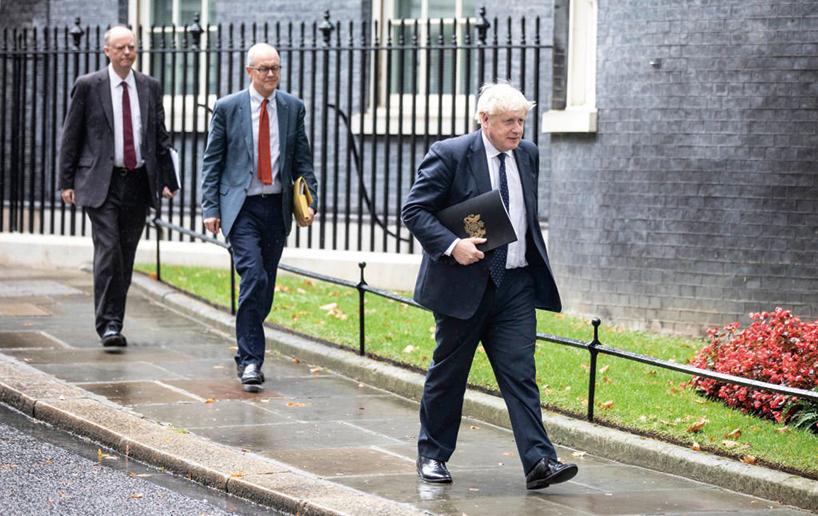 9月15日,英國首相約翰遜(Boris Johnson)對內閣進行改組。(Getty Images)