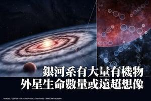 銀河系有大量有機物 外星生命數量或遠超想像