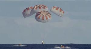 SpaceX平民之旅成功降落大西洋