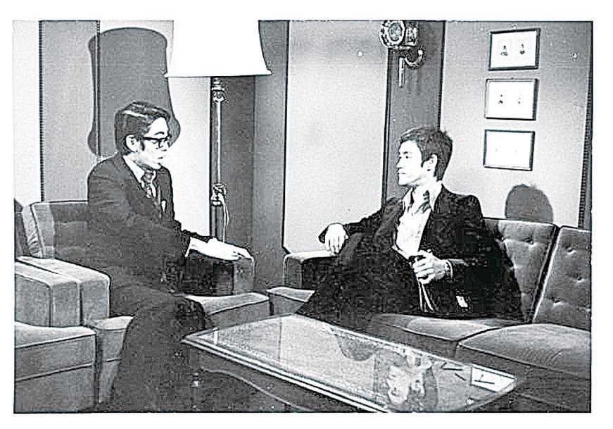 李小龍接受訪問。(蔡和平網頁)