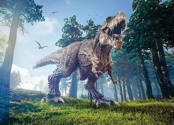 史前巨型恐龍是霸王龍的五倍大
