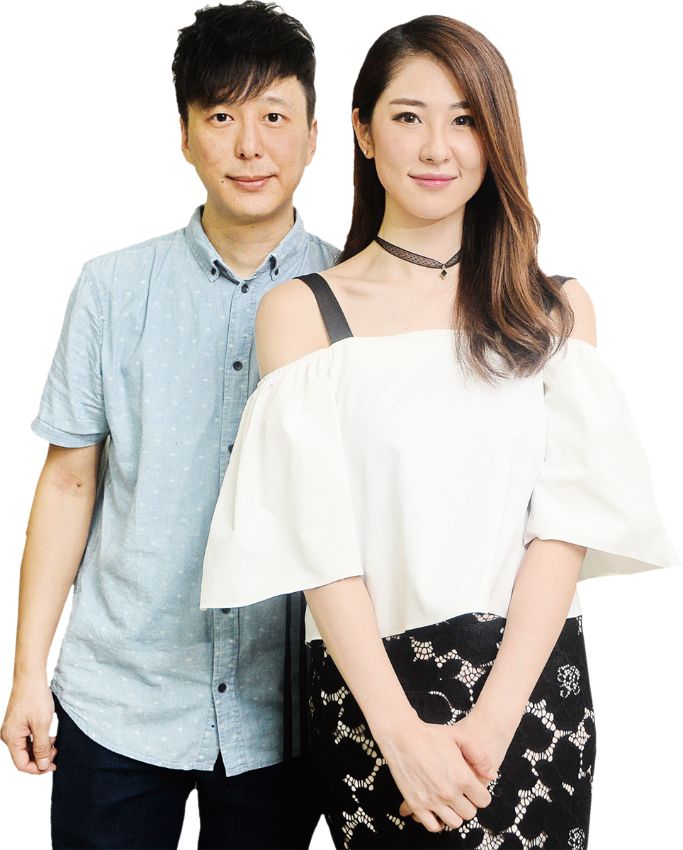 鄧健泓與女友石詠莉。(宋祥龍/大紀元)