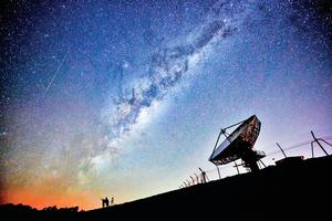 銀河系中心發出神秘射電訊號