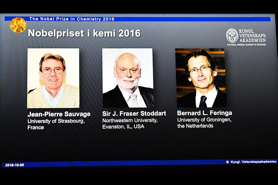 諾貝爾化學獎揭曉 美法荷三科學家分享