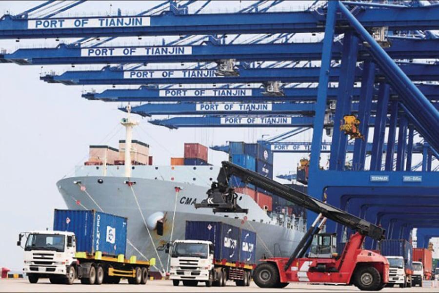 中國外貿下行壓力大