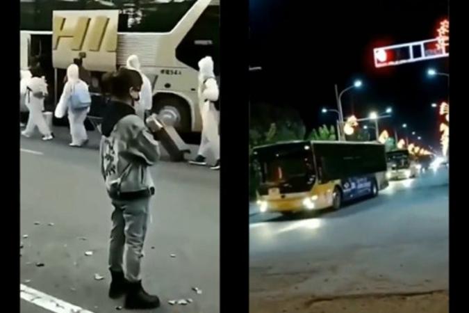 Delta蔓延 哈爾濱數十輛大巴送學生隔離(影片)