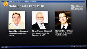諾貝爾化學獎 美法荷三科學家分享