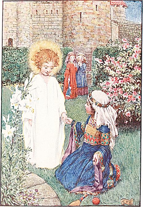 [英]埃莉諾‧福特斯庫-布里克岱(Eleanor Fortescue-Brickdale, 1871/2~1945),《匈牙利的聖伊利沙伯的故事》(Story of St. Elizabeth of Hungary)插圖。(公有領域)