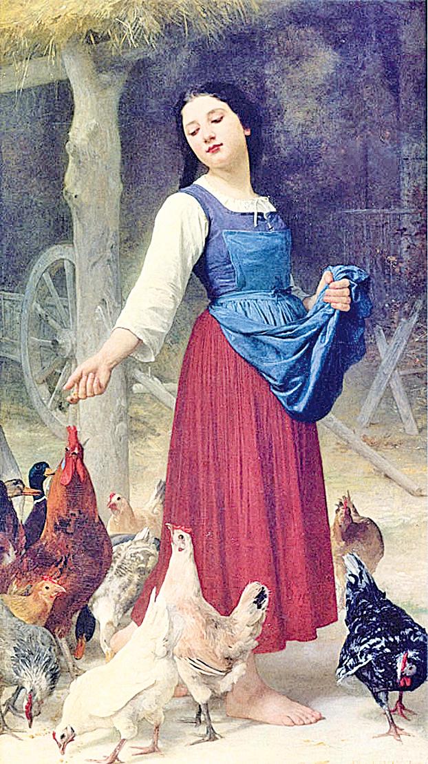 [美/法]伊利沙伯‧簡‧加德納‧布格羅(Elizabeth Jane Gardner Bouguereau, 1837~1922),《農民的女兒》(The Farmer' s Daughter),年代不詳,布面油畫,97×170cm,私人收藏。(Courtesy of Art Renewal Center)