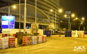 警方凌晨封閉會展一帶 明十一活動派8千警嚴防(多圖)