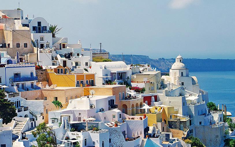 希臘的聖托里尼島嶼。(網絡圖片)