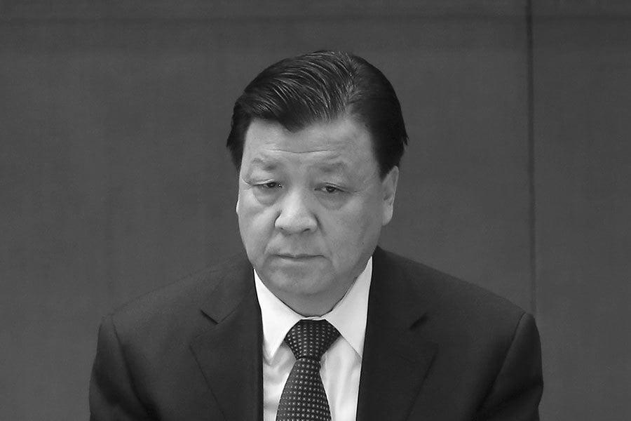 劉雲山。(AFP)