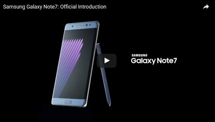 智能手機Galaxy Note7傳出充電爆炸起火事件,三星電子公司及美國消費者產品安全委員會9月15日發出正式召回令,100萬Note7機主可以開始更換新機或要求全額退款。(Samsung Mobile YouTube視像擷圖)