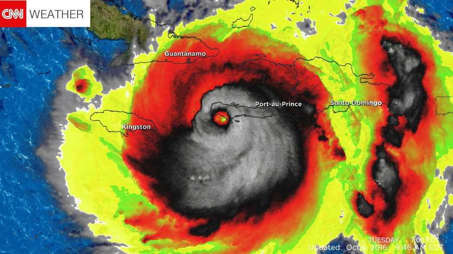 重創加勒比 颶風形狀如骷髏