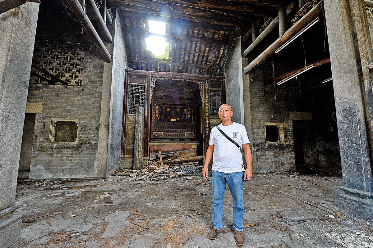 陶文質第20代後人、新村村長陶兆林,對陶氏宗祠未能修復和保留,深感心痛和無奈。