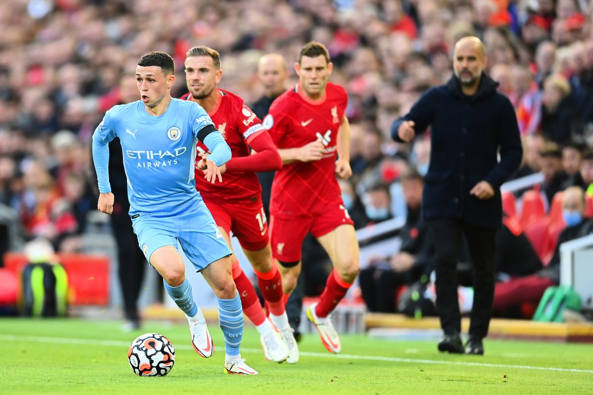 英超焦點戰精采對決 利物浦2-2戰平曼城。( Michael Regan/Getty Images)