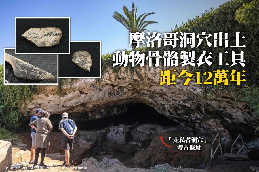 摩洛哥洞穴出土動物骨骼製衣工具 距今12萬年