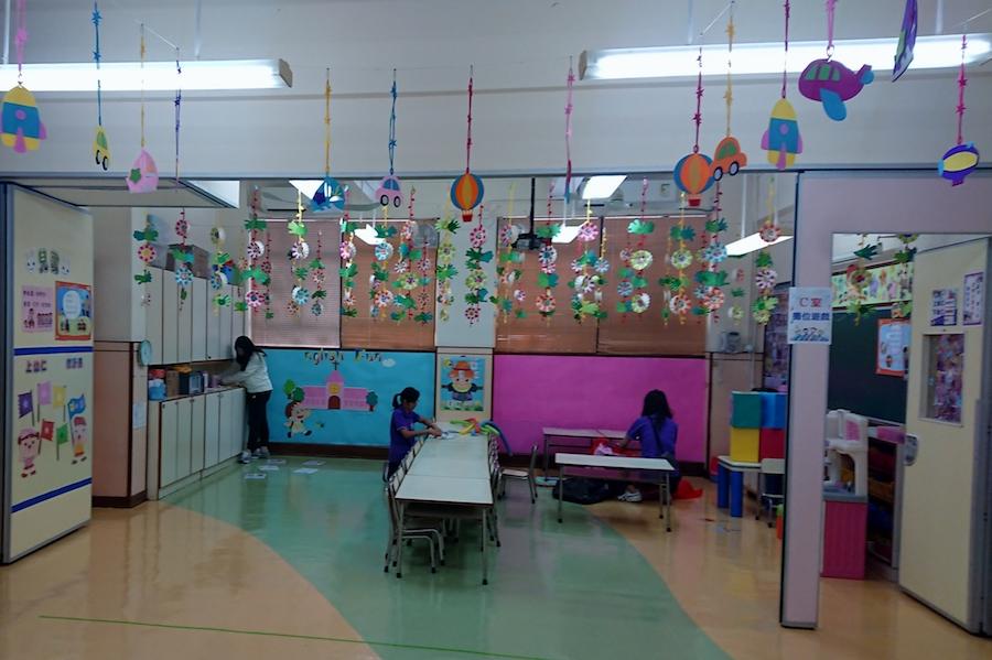 聖公會牧愛幼稚園地下課室。(鄺嘉仕提供)