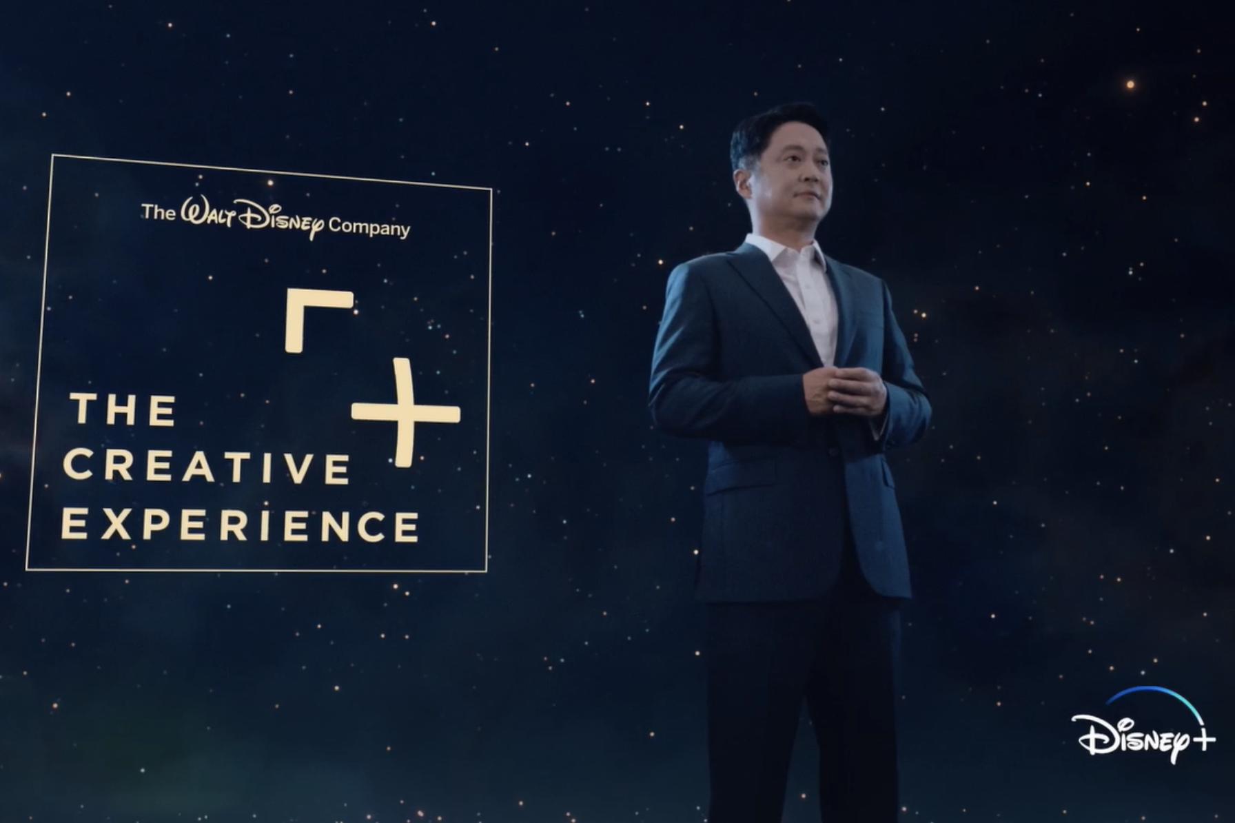 華特迪士尼公司亞太區總裁姜熡可在14日的發布會上介紹亞太區「迪士尼創意體驗之旅」企劃。(華特迪士尼公司提供)