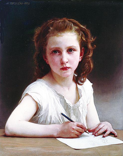 [法]威廉‧阿道夫‧布格羅(William-Adolphe Bouguereau),《一聲呼喚》(Une Vocation),布面油畫,1890年作。(藝術復興中心提供)