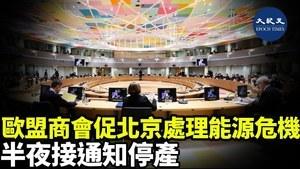 歐盟商會促北京處理能源危機 半夜接通知停產