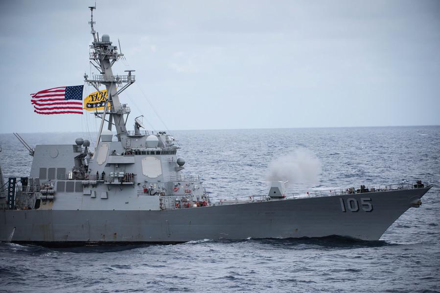 美加軍艦通過台灣海峽 宣示對台承諾