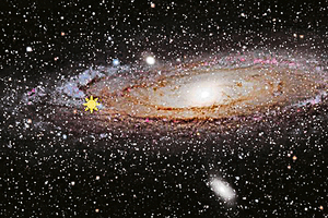 首次發現巨型黑洞 「遊蕩」於星系邊緣